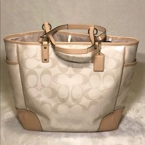 Coach Canvas & Leather Tote